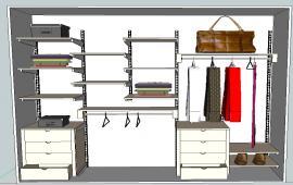 Closet wardrobe  details