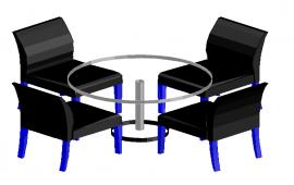 Modern  dining table 3d