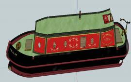 Modern Boat design 3d