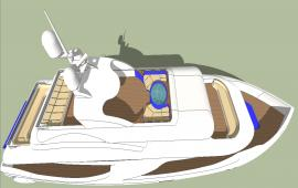3d Power Boat design