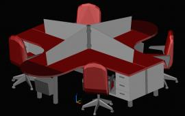 3D Office Furniture Design