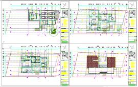 Residential  house layout plan