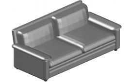 Two seater simple  sofa design