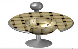 3d Modern center table details