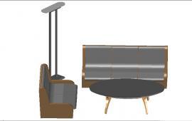 3D Sofa details