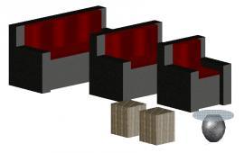 3D Sofa set details