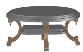3d Center table design