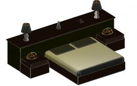 3D Double Bed  Design