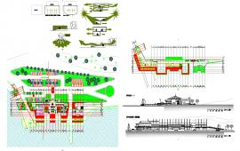 Club House Design DWG file