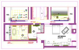 House interior design lay-out