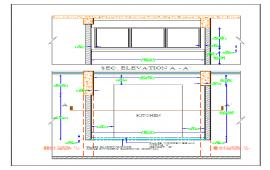 Kitchen Elevation & lay-out
