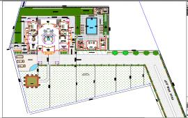 Layout plan for garden
