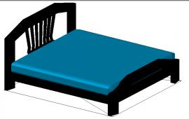 3D Double Bed Detail