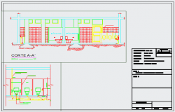 Sanitary construction detail drawing design
