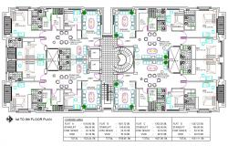 1700 SQ FT Apartment Plans With Furniture Layout AutoCAD Drawing