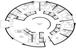 Circular Bungalow LAy-out design