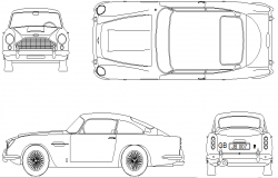 1963 car model detail dwg file