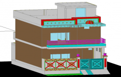 3d Bungalow design