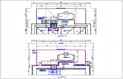 1st floor plan and 2nd floor plan view detail dwg file