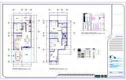 2 Level House plan dwg file
