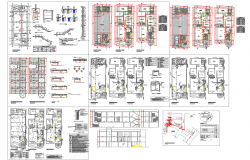 2 and 3 BHK Apartment architecture drawing and detail