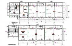 2 floor plan of college campus in autocad