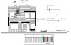 Download Free  2 storey house design in DWG file