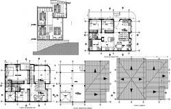2 storey house plan in autocad