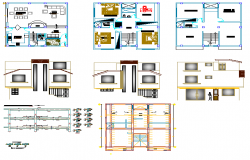 2 storey residential housing planning and design with dwg file