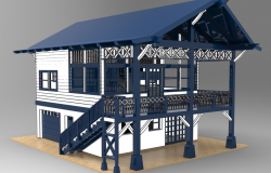2 stories house 3d max file