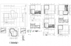 2 story Architecture building detail and drawing in cad files