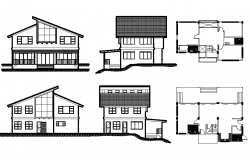 2 story House plan dwg file