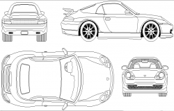 2000 model car detail dwg file