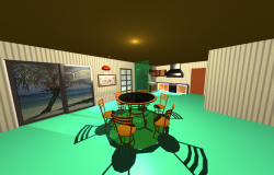 3d Kitchen with Dining room