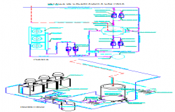 Gas heater schematic detail drawing