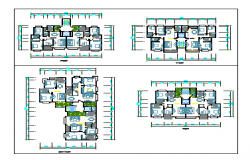 2BHK Apartment house design drawing