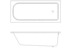 2D Bath Tub Block Design