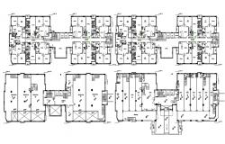 2D CAD Drawing Commercial Floor And Two BHK Apartment Planning AutoCAD File