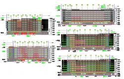 2D CAD Drawing Hospital Building Elevation AutoCAD File