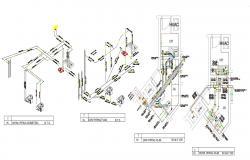 2D CAD Drawing Modern Washroom Design AutoCAD File