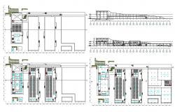 2D CAD Drawing Of Factory Project Layout Plan And Elevation Design AutoCAD File