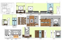 2D CAD Drawing Of House Interior Elevation AutoCAD File