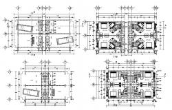 2D CAD Drawing One BHK Studio Apartment With Furniture Layout AutoCAD File