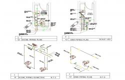 2D CAD Drawing Small Toilet Design Plan AutoCAD File