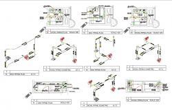 2D CAD Drawing Small Washroom Design AutoCAD File