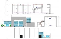 2D CAD Drawing Theater Section DWG With Front Elevation Design AutoCAD File