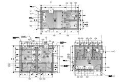 2D CAD Drawing Toilet Plan  DWG File