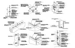 2D CAD Mechanical Drawing With Texting AutoCAD File