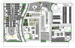 2D DWG Drawing Huge Shopping Mall Plan With Theater AutoCAD File