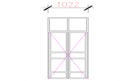 2D Door Block Detail
